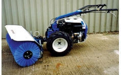 Sep Two Wheeled Tractor with Sweeper Attachment