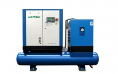 DENAIR Full Feature Screw Type Air Compressor with Dryer, Tank & Filters